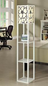 plus lamps lamp and lighting ideas for your home plus With eurico floor lamp with shelves