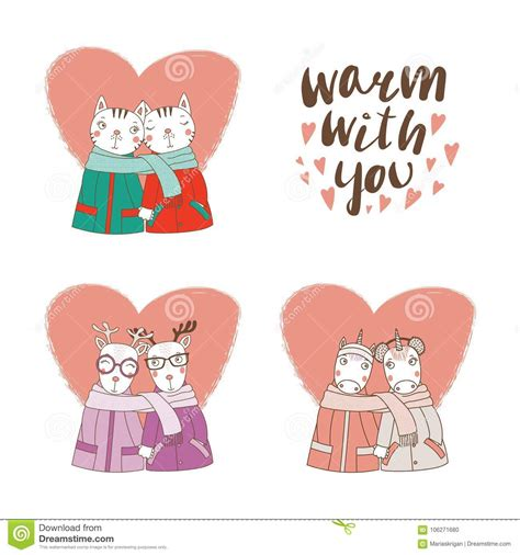 High quality cutout png images in pngwing, free and unlimited downloads. Cute animal couples stock vector. Illustration of ...