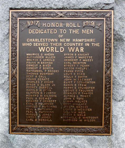 hampshire veteran honor rolls  monuments