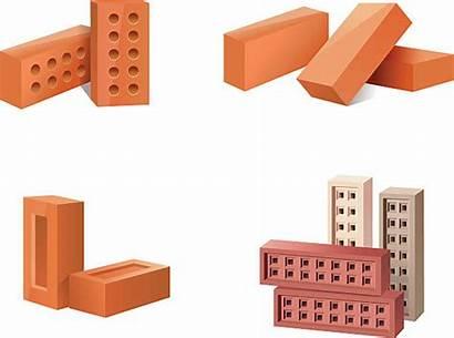 Clip Materials Building Bricks Baustoffe Symbole Vektor