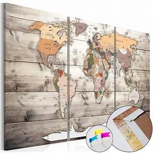Weltkarte Bild Holz : bilder weltkarte pinnwand holz vintage brown ~ Lateststills.com Haus und Dekorationen
