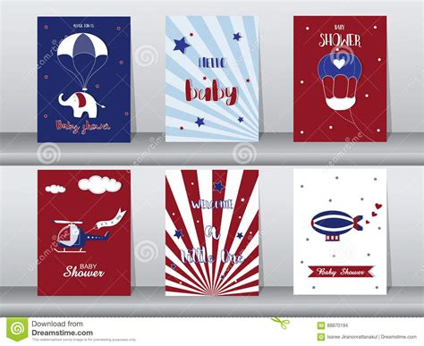 4 5 x 11 gift card template set of baby shower invitation cards birthday cards poster