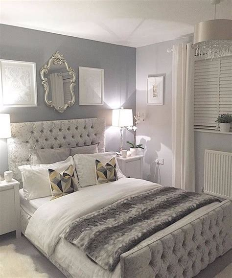 sumptuous bedroom inspiration  shades  silver master