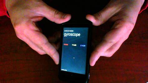 gyroscope on phone gyroscope data on a windows phone