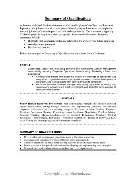 Summary Of Qualifications For Retail by Creative Retail Resume Summary Retail Resume Summary