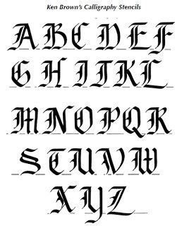 calligraphy alphabet  english calligraphy alphabet