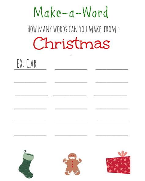 printable christmas games  kids  adults