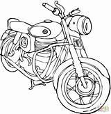 Kleurplaten Motor Coloring Motorcycle Kleurplaat sketch template