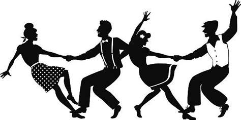 lindy hop swing out danser le rock vecteurs et illustrations libres de droits