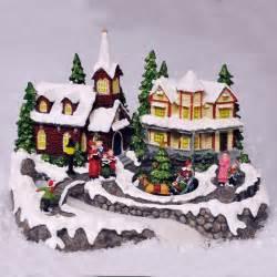 animated christmas village scene fibre optic led lights sounds low voltage