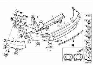 2010 Bmw X5 Set  Mounting Parts  Bumper  Rear  Value Line