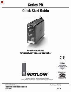 Watlow Series Pd Ethernet Enabled Temperature And Process