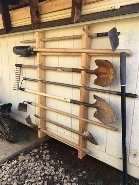 garden tool rack garden tool storage diy garage storage