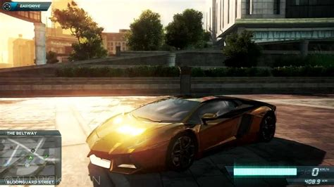gold lamborghini aventador   speed  wanted