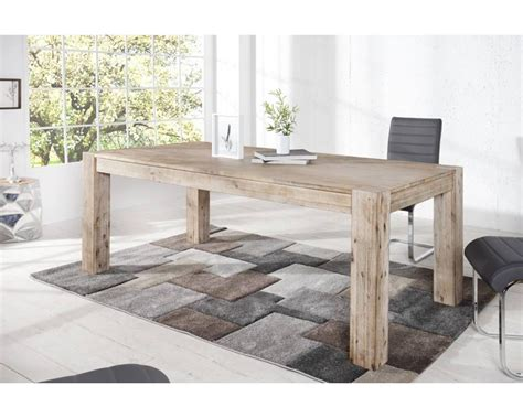 table blanche bois massif madame ki