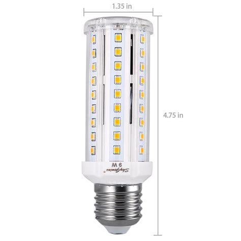 9w warm white led corn light bulb e26 standard socket