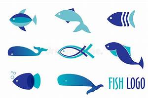 Vector Illustration Of Blue Colors Fishes. Abstract Fish ...