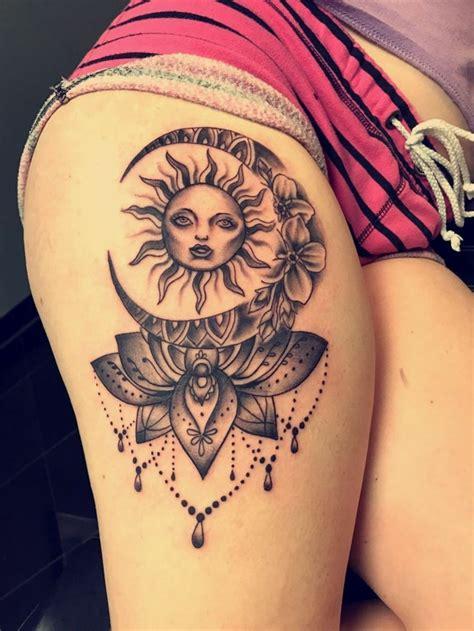 1001 + Versions Fantastiques Du Tatouage Lune Et Soleil