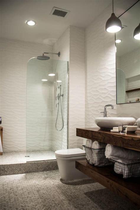 Spa Bathroom Showers by Sleek Sculptural Master Bathroom 2014 Hgtv
