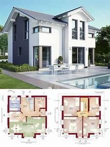 Modernes Haus Grundriss : modernes haus mit satteldach architektur querhaus pool einfamilienhaus bauen grundriss ~ Orissabook.com Haus und Dekorationen
