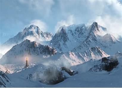 4k Halo Witcher Reach Mountain Snow November