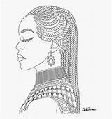 Coloring Queen African Printable Pngitem Transparent sketch template