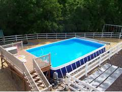 Swimming Pool Ideas With Deck Swimming Pool Deck Ideas For Portable Pools And Above Ground Pools