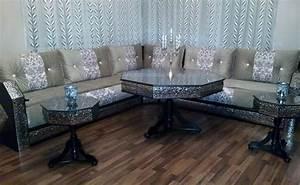 Banquette Salon Marocain : salon marocain traditionnel design moderne ~ Teatrodelosmanantiales.com Idées de Décoration