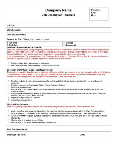 free description template 49 free description templates exles free