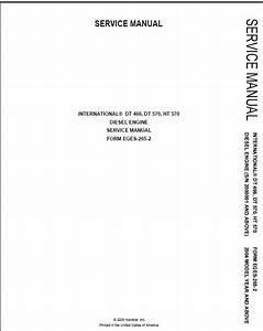 International Dt466 Dt570 Ht570 Diesel Engine Service Manual