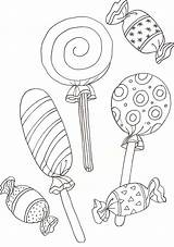Coloring Lollipop Candy sketch template
