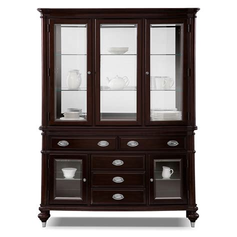 Buffet Cabinets And Sideboards by Esquire Buffet And Hutch Cherry Value City Furniture