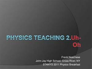 Physics teaching 2 uhoh