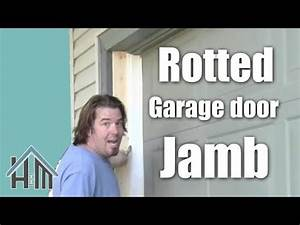 How to repair a garage door jamb, rotted wood. Easy! Home ...