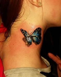 Kleiner Schmetterling Tattoo : die besten 25 3d schmetterling tattoo ideen auf pinterest 3d t towierungen ~ Frokenaadalensverden.com Haus und Dekorationen