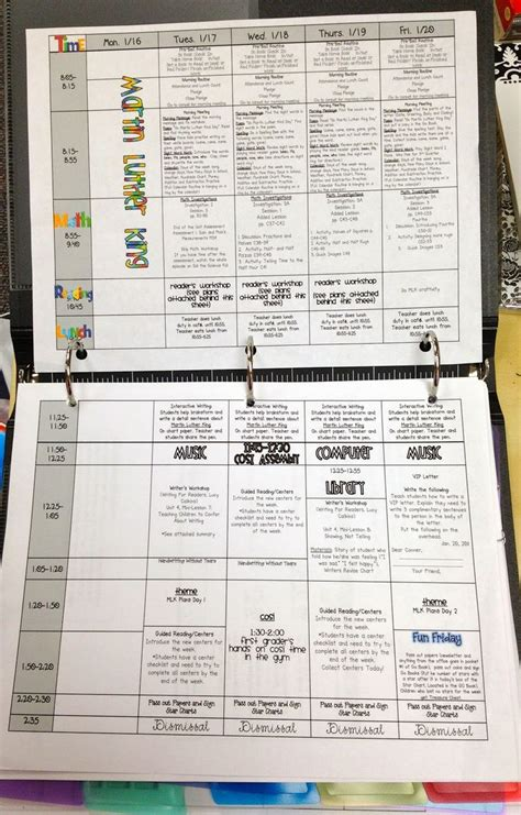 9 best lesson plans images on school weekly