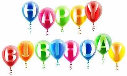 Birthday Balloons Happy Clipart Transparent Clip Anniversaire