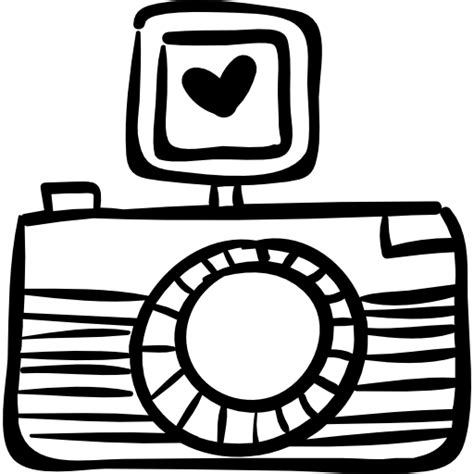 Kleurplaat Fotocamera by Photo With Free Signs Icons