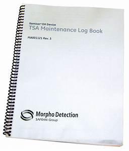 Maintenance Log Book  Itemiser Dx