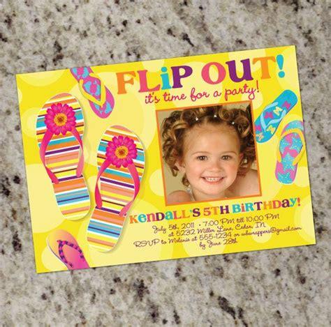 Flip Flop Party Invitations Printable Design Party