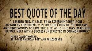 Quote of the da... Thoreau Book Quotes