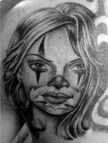 Gangster Girl Clown Tattoos