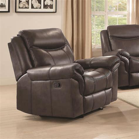 reclining club chairs coaster sawyer motion 602333 glider recliner northeast 1747