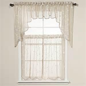 savannah taupe kitchen window curtain tiers bed bath beyond