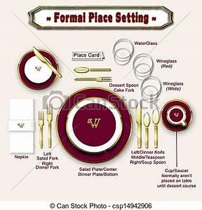 Formal Table Setting Diagram  Teaching Diagram Showing
