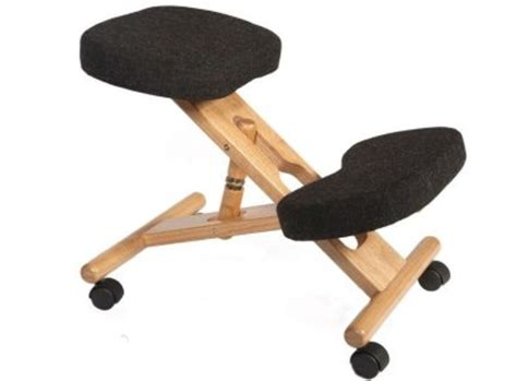 ergonomic kneeling chair charcoal suitable for homeoffice