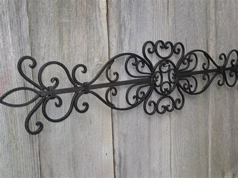Perfect Large Wrought Iron Wall Decor Jeffsbakery