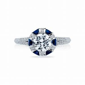 tacori engagement rings sapphire adorned setting 075ctw With diamond and sapphire wedding rings