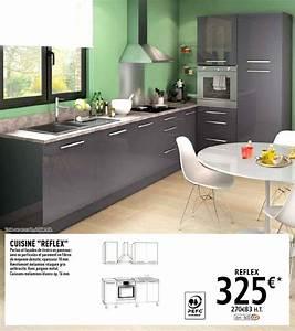 Poignée Meuble Cuisine Brico Depot : cuisine brico depot gris ~ Mglfilm.com Idées de Décoration