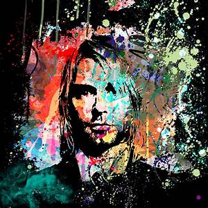Kurt Cobain Portrait Painting by Gary Grayson